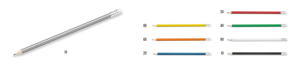 barevná dřevěná tužka s gumou freja