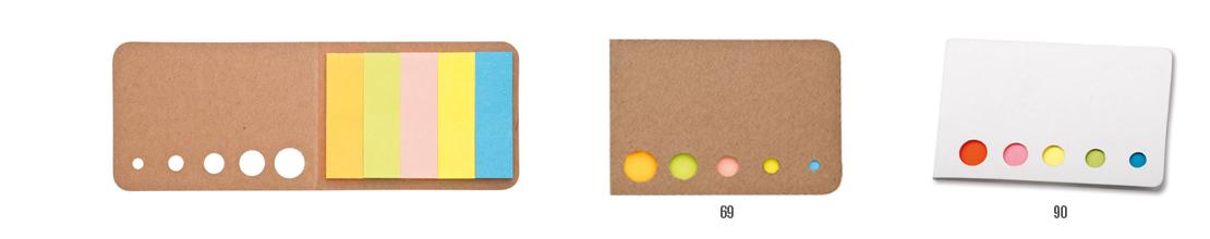 reklamní lístečky bocu - poznámkové lístečky v různých barvách