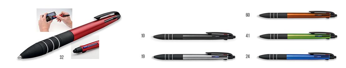 reklamní plastová propiska 3 v 1 s funkcí touch pen