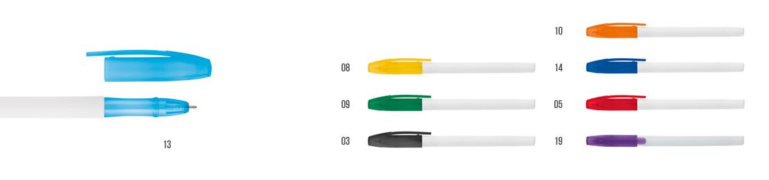 plastové pero s vrškem