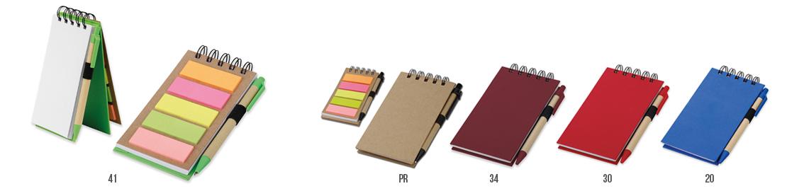 reklamní zápisník s poznámkovými lístečky a kuličkovým perem ALFO