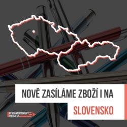 nově zasíláme reklamní propisky i na slovensko