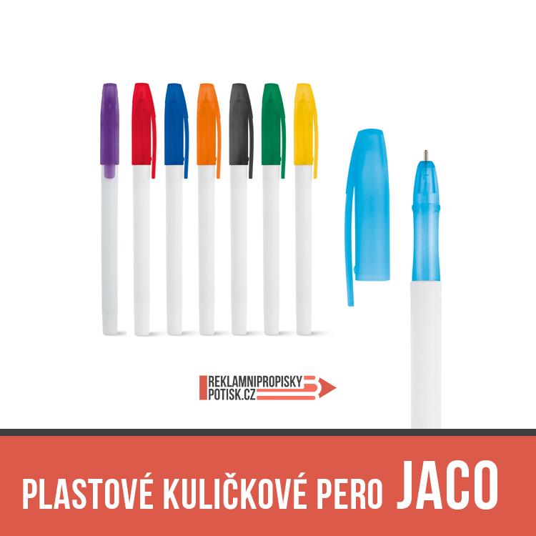 plastové kuličkové pero s vrškem